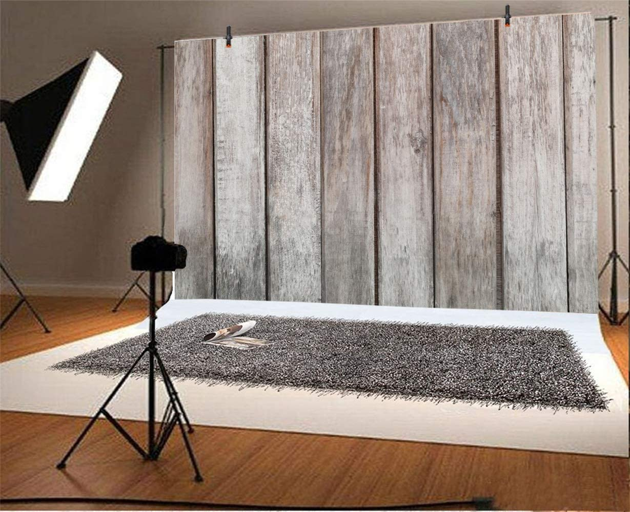 GoEoo 7x5ft Grunge Old Wood Texture Board Backdrop Vinyl Rustic Vertical Striped Wood Plank Background Child Adult Artistic Portrait Kid Clothes Pets Shoot Studio Countryside