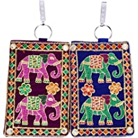 Craft Trade Handicraft Ladies Traditional Mobile Pouch Wallet Saree Waist Clip For Women