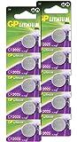 GP CR2025 3V - Pack de 10 Pilas CR 2025 de Litio botón | Sin Mercurio | Pack Compuesto por 2 blísters de 5 Pilas CR2025…