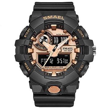 Blisfille Reloj Hombre Marron Reloj Pulsera Mujer Reloj para Deportistas Reloj con Ojos Reloj Digital Sumergible