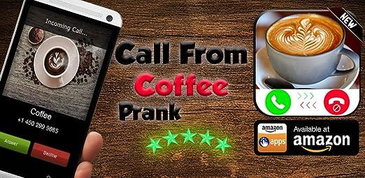 Amazon com: Coffee Calling You - Free Fake Phone Call ID PRO