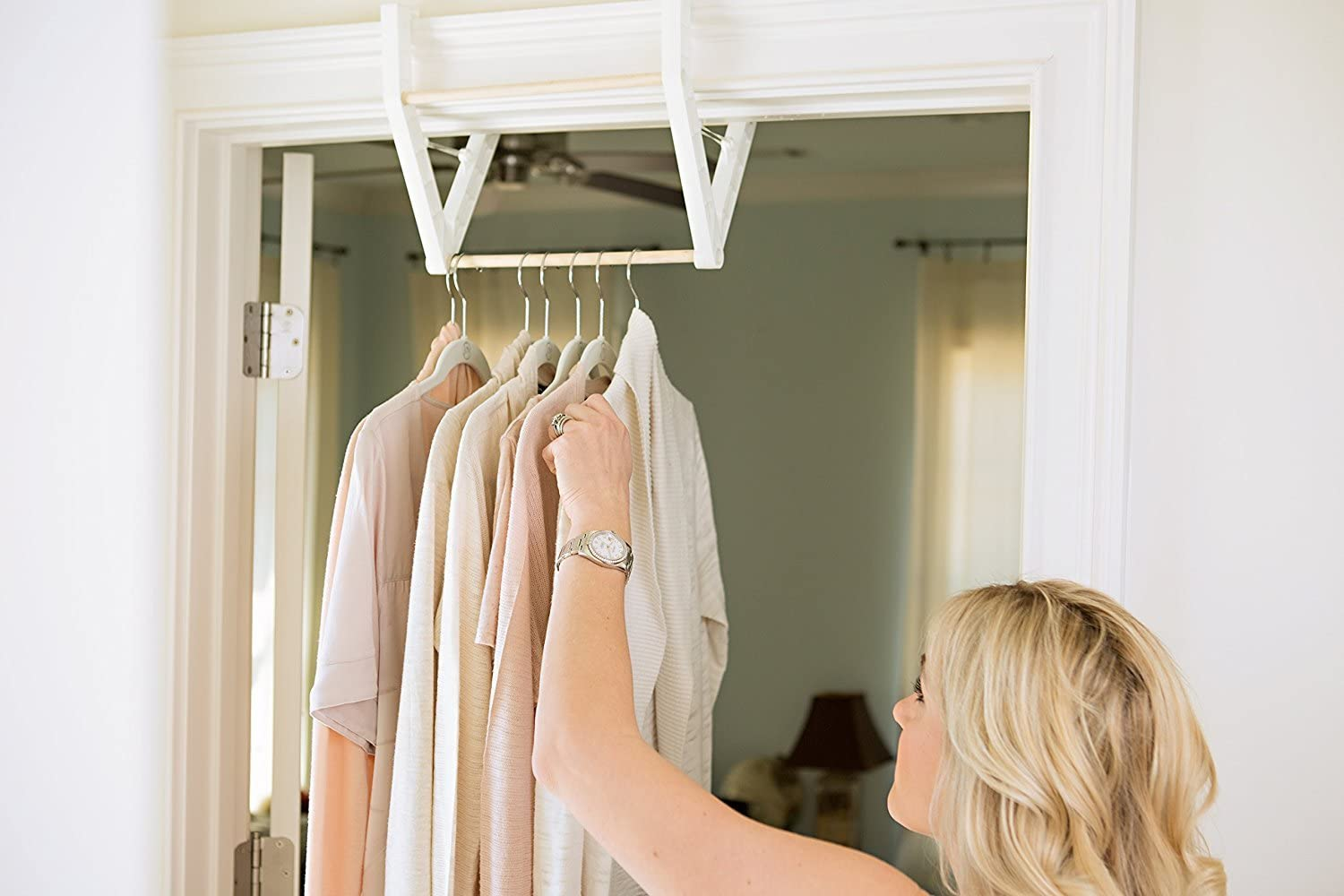 or Extra Closet Space Drying Rack,Clothing Bar The Marge Clothing Rod