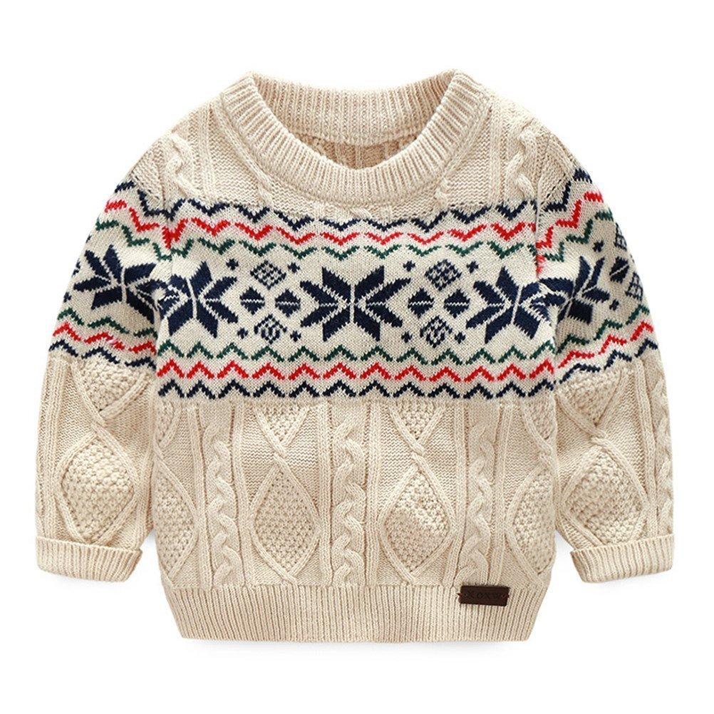 TAIYCYXGAN Baby Jungen Strickpullover Strickjacken Pulli Weihnacht Karikatur Pullover Sweatshirt DE-TATZ161-mi-10