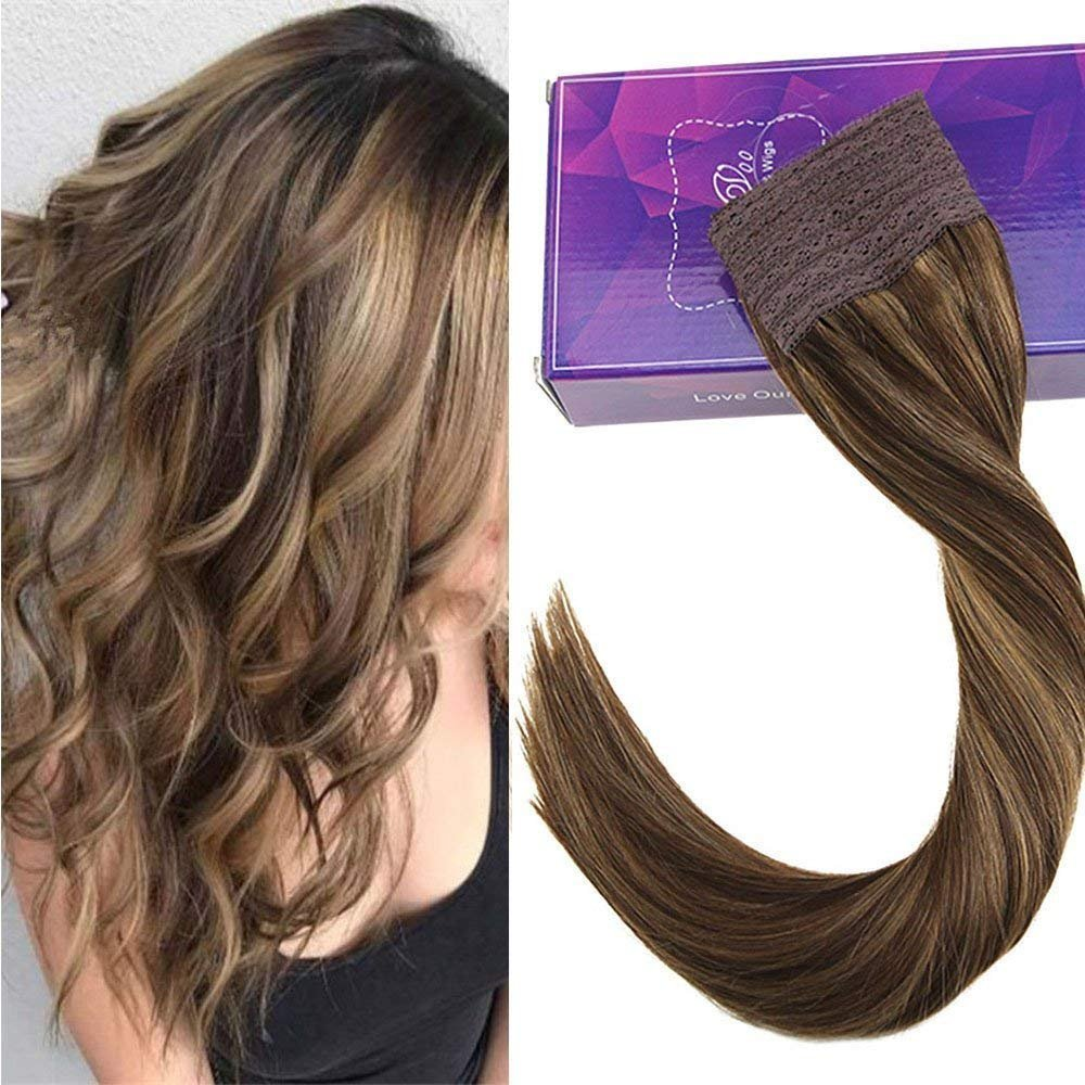 Amazon Sunny 14inch Remy Invisible Halo Hair Extensions Dark
