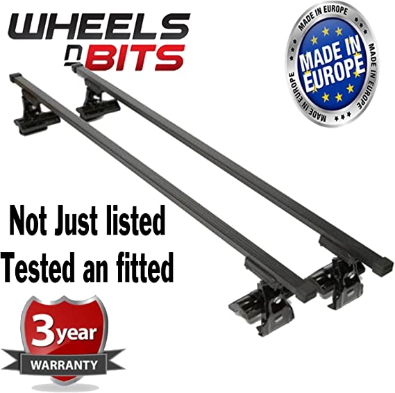 2010-2015 Aluminium Locking Bars for Cars with Flush Solid Running Rails MP Essential 1.35m Roof Bars to fit ix35