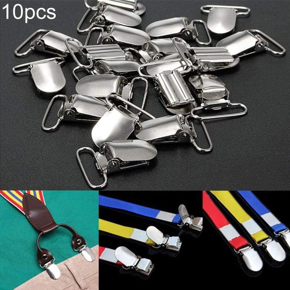 9302sonoaud 10pcs m/étal sucettes en Forme de b/éb/é pour b/éb/é sucettes Pinces /à Bretelles