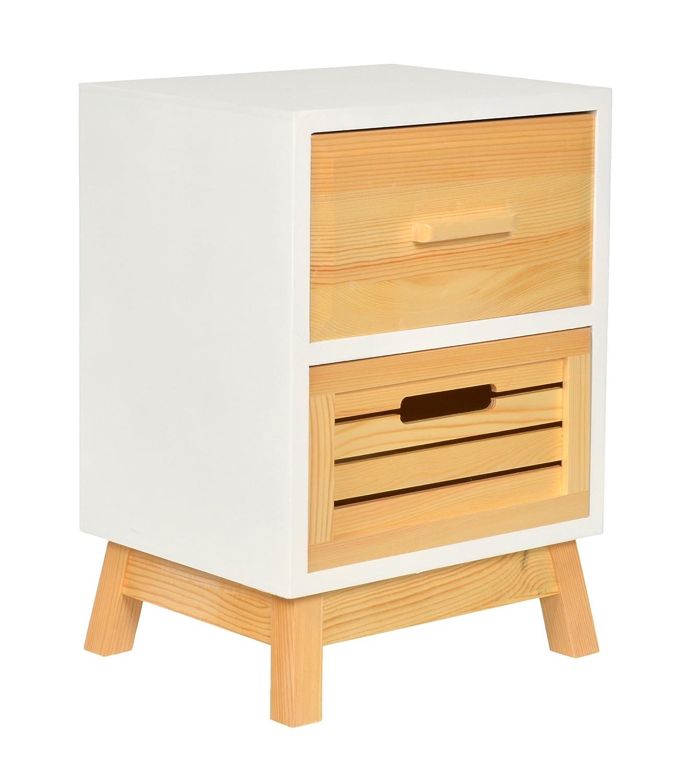 in Legno di Pino Birlea Furniture Mobiletto con 3 cassetti