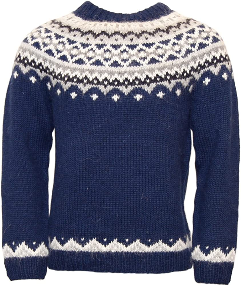 Men's Vintage Sweaters, Retro Jumpers 1920s to 1980s ICEWEAR Skjoldur Mens Sweater Hand Knitted Design 100% Icelandic Wool Sweater Without Zipper £172.00 AT vintagedancer.com