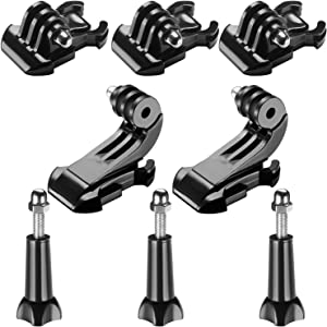 Neewer 8-in-1 Accessory Kit for Gopro, Buckle Clip Basic Mount, Vertical Surface Quick Mounting J-Hook Buckle Mount, Long Thumb Screw for GoPro Hero 3 3+ 4 5 6 Accessories SJ4000 SJ5000 SJ6000