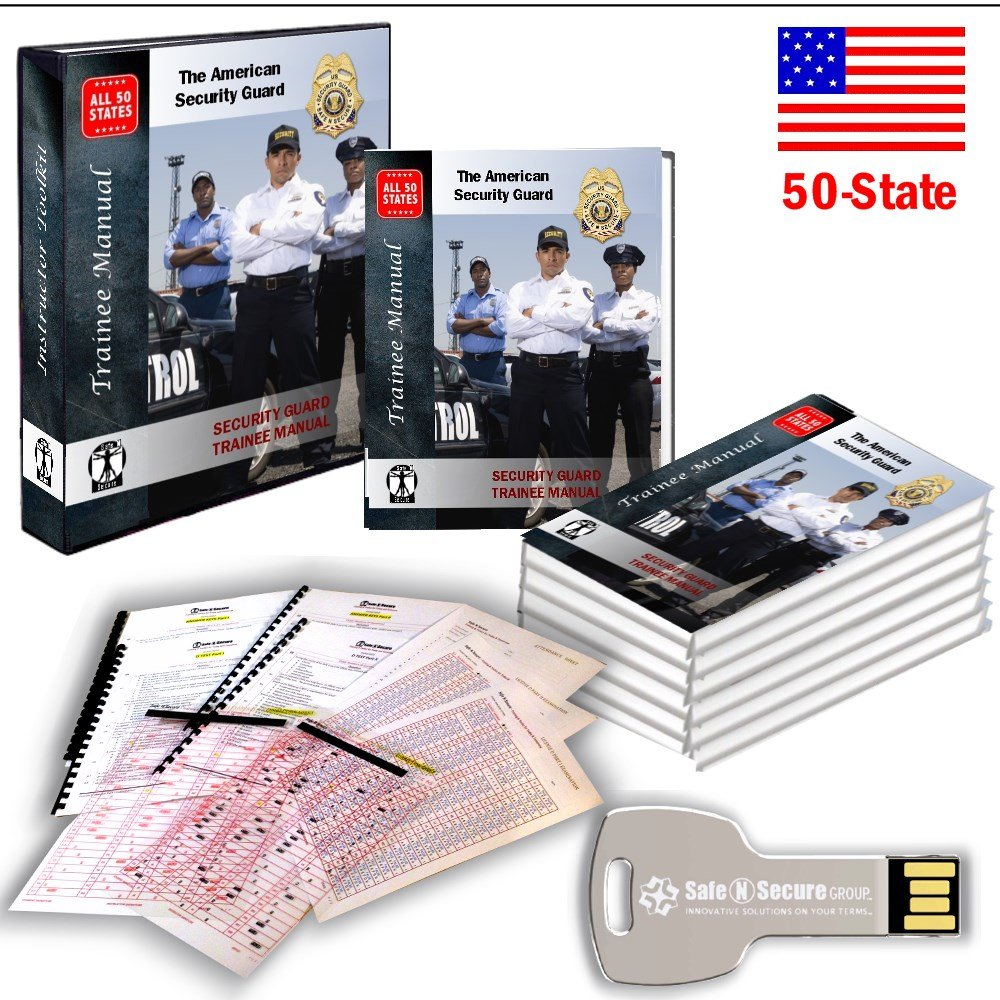 50-STATES Security Guard TRAINER KIT (Lesson Plan & Examinations): Safe N  Secure: 0617629773316: Amazon.com: Books
