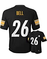 46dce15c3 Leveon Bell Pittsburgh Steelers  26 Black NFL Kids 4-7 Home Mid Tier Jersey