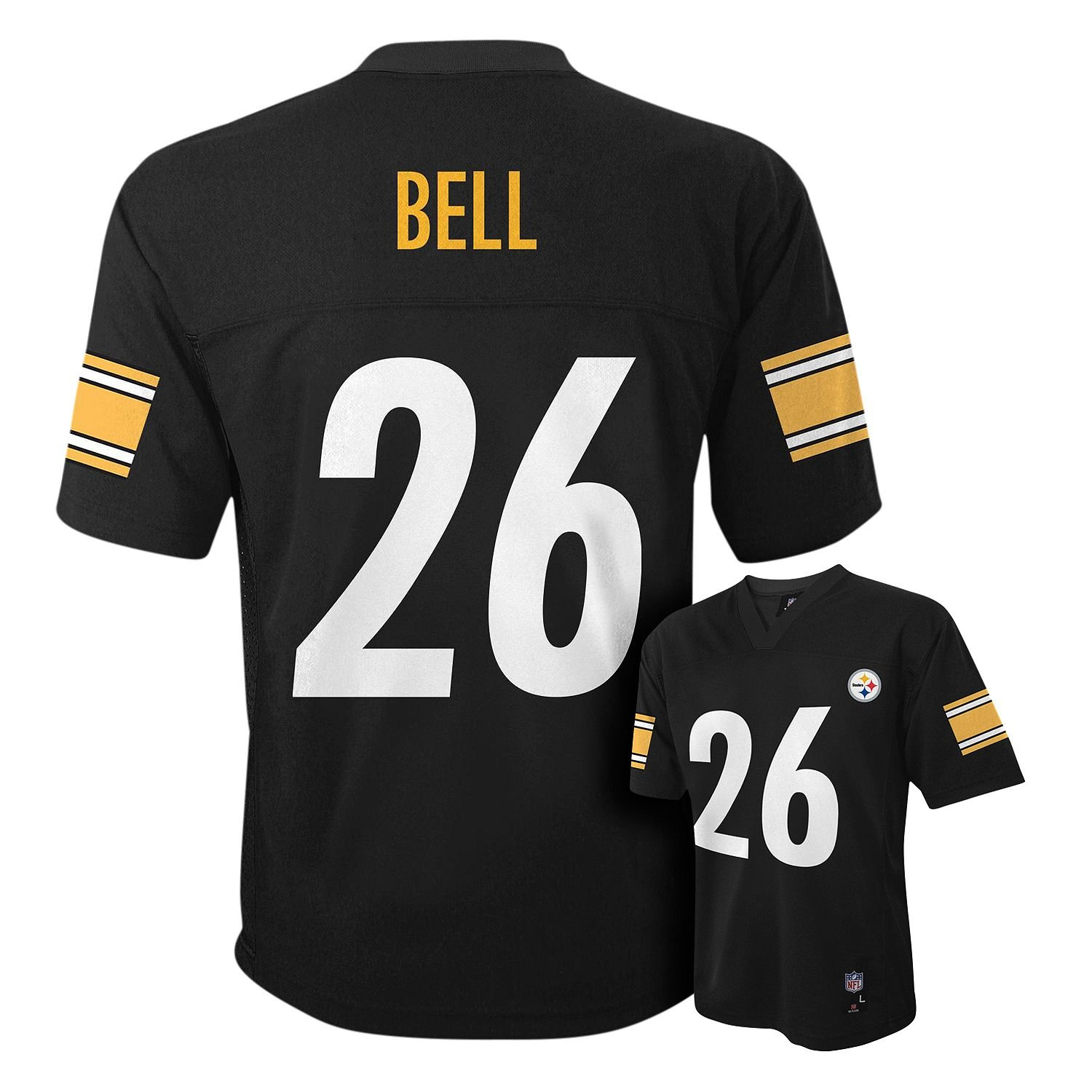 1d140867b3b Amazon.com: Leveon Bell Pittsburgh Steelers #26 Black NFL Infants Home Mid  Tier Jersey: Clothing