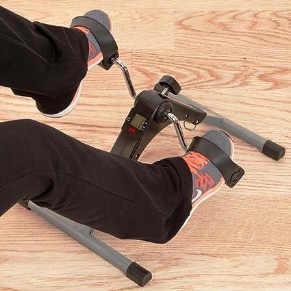 Plegable Mini bicicleta estática Pedales portátiles con pantalla digital Multi Function Talla:1: Amazon.es: Deportes y aire libre