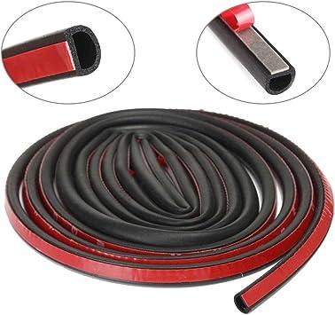 hueco Burlete para puerta con forma de D color negro