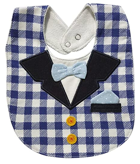 01f66d785dcd Amazon.com: FANCYBABY Baby Boy Girl Drool Bibs Tux Tuxedo Bow Tie Burp  Cloths Unisex (Style #1): Clothing
