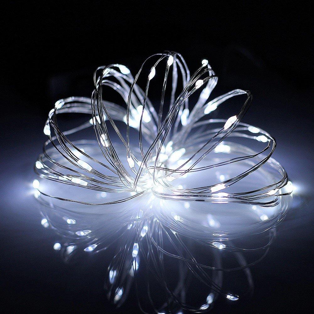 Timewanderer Cuerda Luz 2m/7Ft con 20 LEDs Azul de Alambre de Cobre para Árboles de Navidad y DIY Decoración (AA Batería No Incluye) [Clase de eficiencia energética A+++]