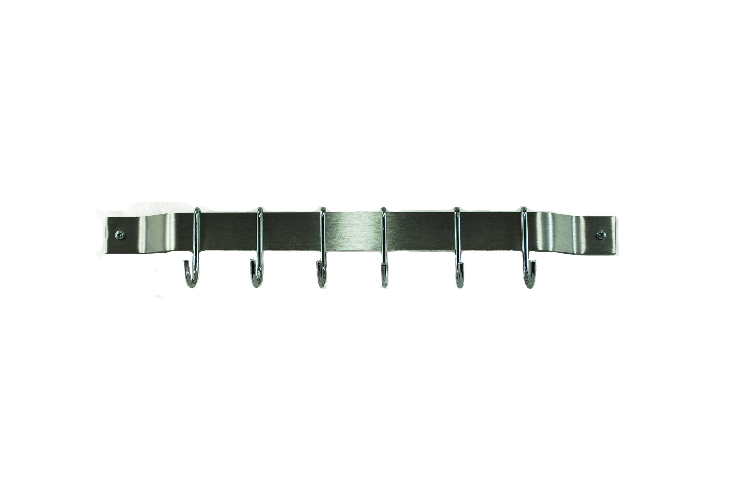 18'' Bar Rack: Stainless Steel and Chrome