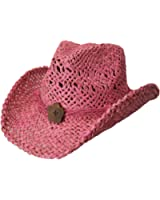CoV-VeR Stained Maize Straw Flower Concho Western Hat