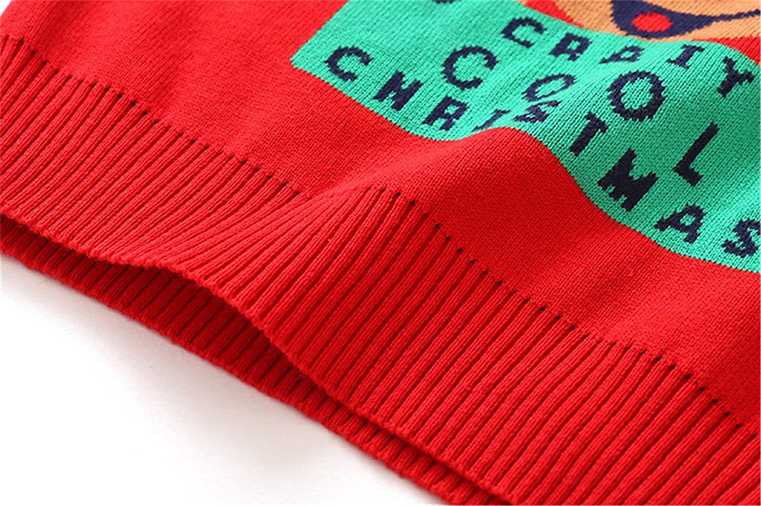 Kids Christmas Sweater Winter Fleece Knitwear Sweatshirt Pullover Warm Outwear 2-3 Years