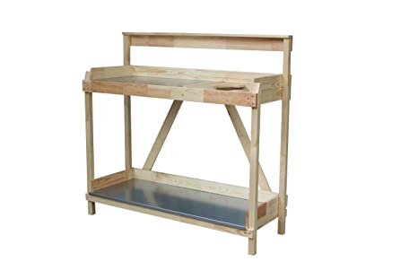 Tavolo Da Lavoro Giardino : Tavolo da giardino con zincato piano di lavoro e eimerhalterung