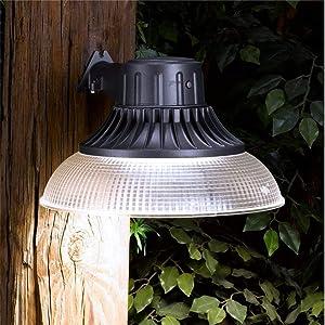 Honeywell LED Barn Light With Plastic Shade, 5000 Lumen in Slate Grey, MA095052-40