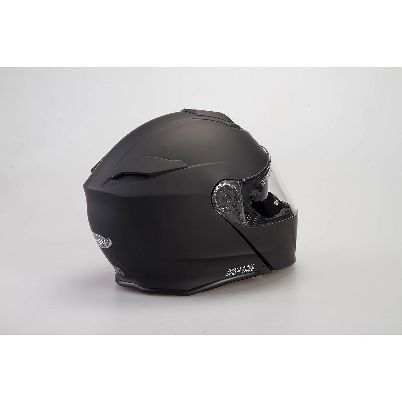 Casco modulare bluetooth Viper V171 Casco Moto Touring Apribile Bluetooth Integrato Casco Colore Nero Opaco XL