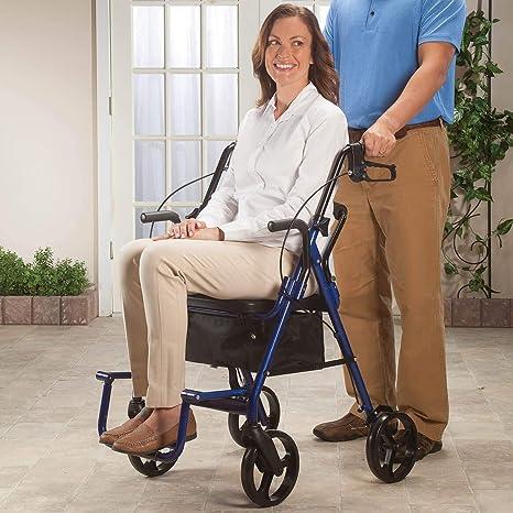 Amazon.com: Andador y silla de transporte en 1, Color Azul ...