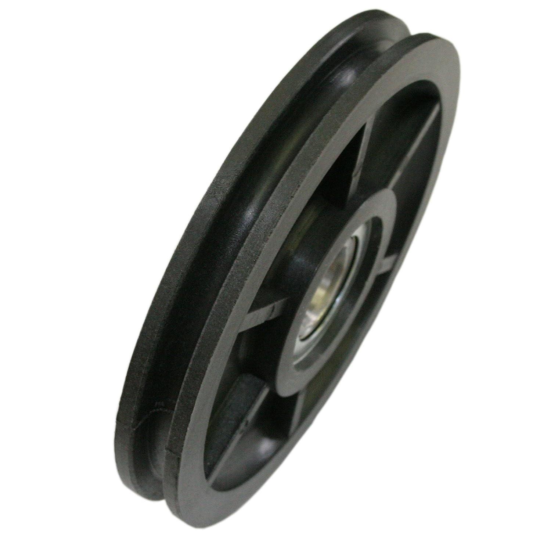 Polea de plástico 100 mm de diámetro 5 mm DO
