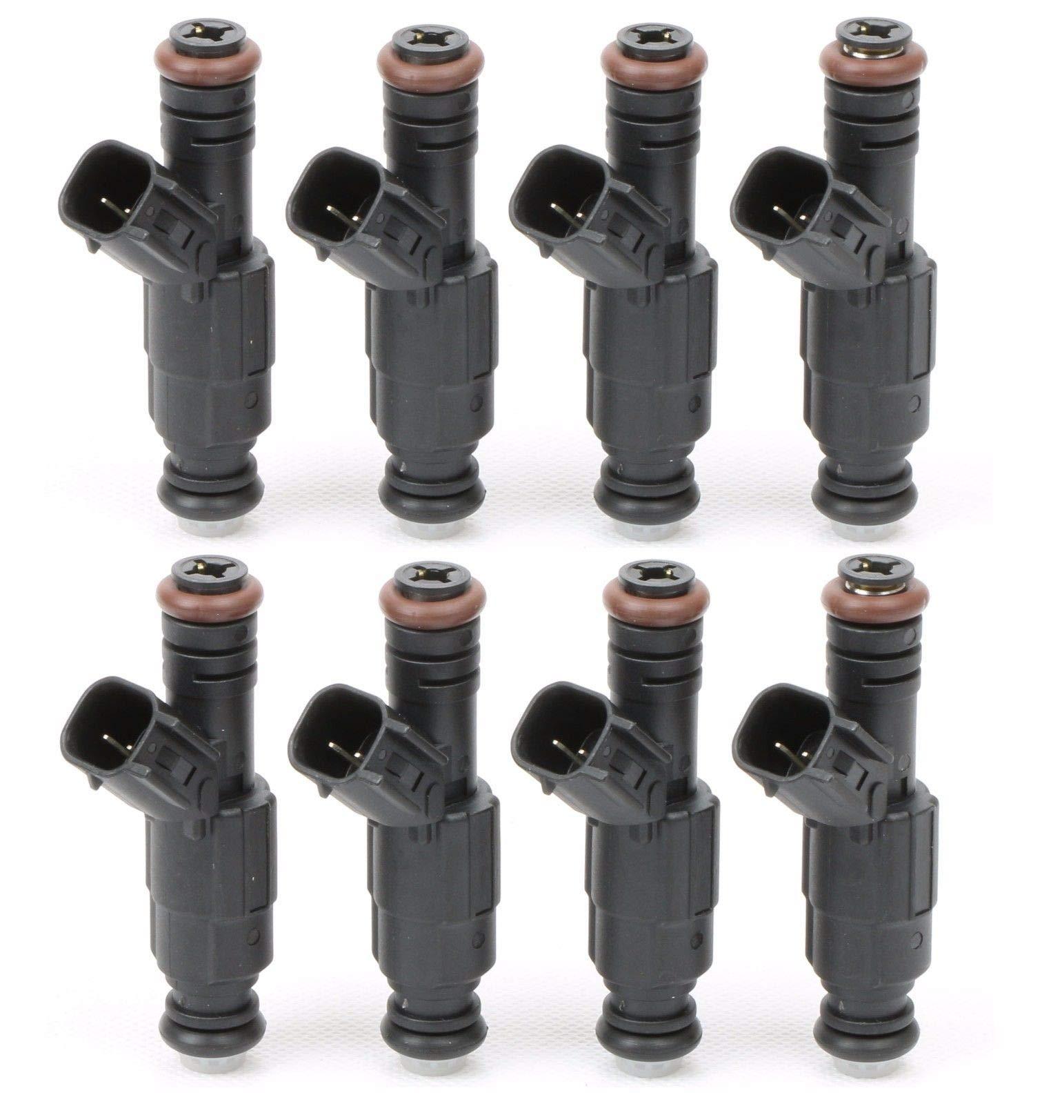 New 8pcs Fuel Injectors 0280155849 For Dodge Chrysler 4.7L V8 upgrade 4 Nozzle