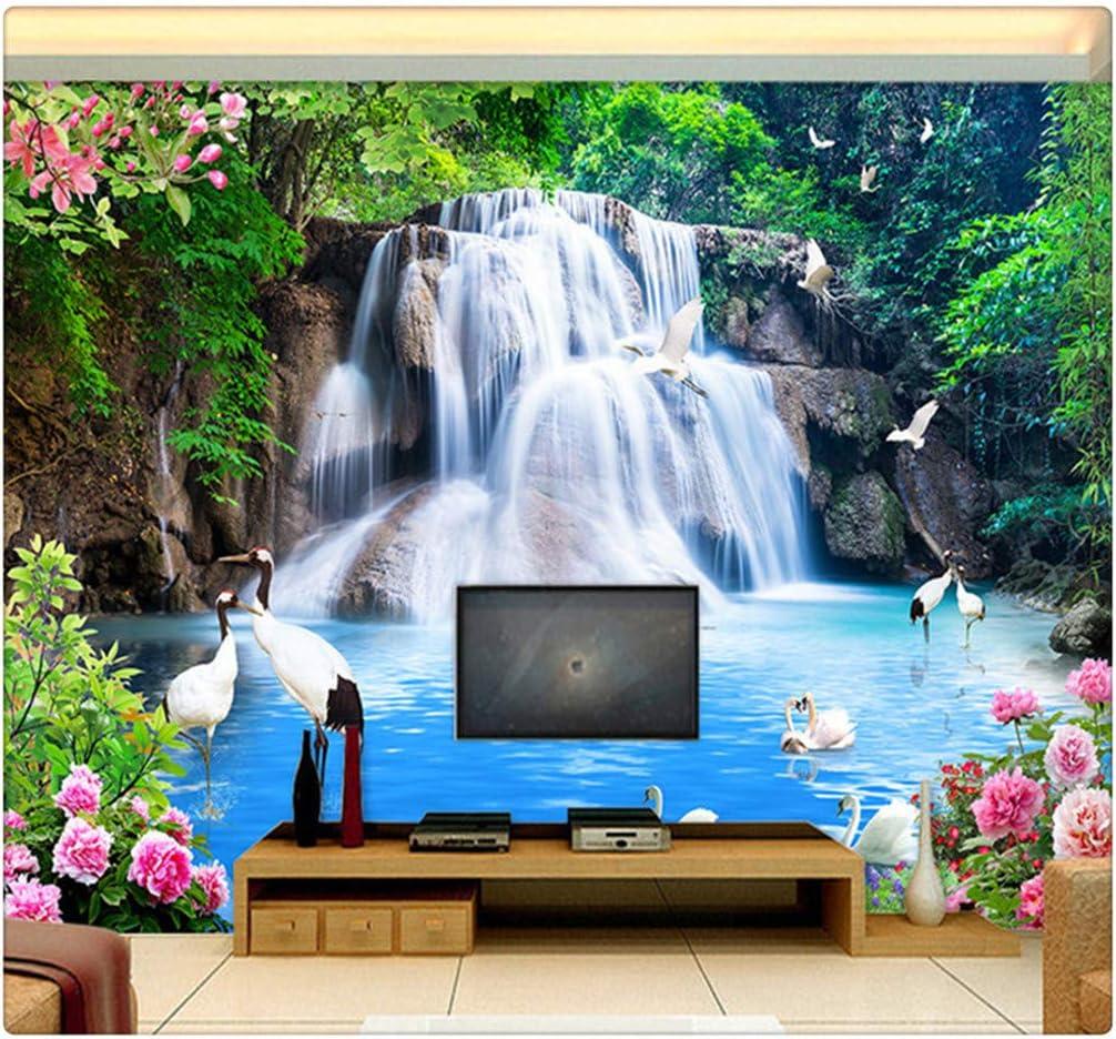 3D Amazing Mountain Waterfall Self-adhesive Living Room Wall Murals Wallpaper