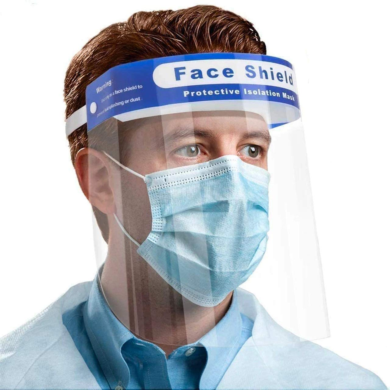 AEC® Reusable Safety Face Shield Clear Face Protective Anti Fog Visor for Eye Head Protection, Soft Head Facial Cover/Mask - Made In India (3): Amazon.in: Clothing & Accessories