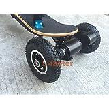 Electric Skateboard Truck Off Road Skateboard Belt Drive Truck 4 Wheel Longboard Mountains Skateboard 11 Inch Truck 8 Inch Wheel (drive truck)