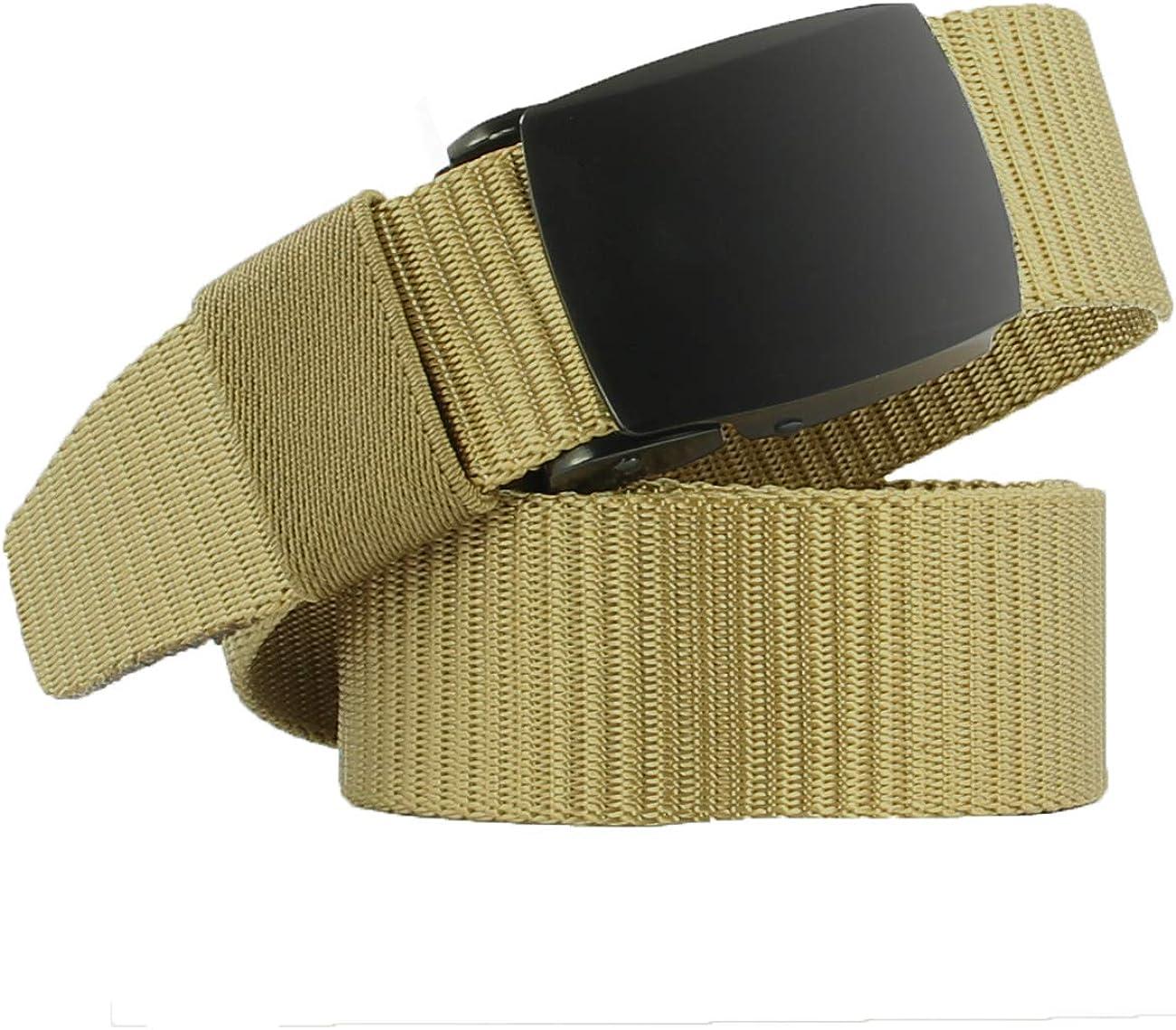 JINIU Christmas Military Canvas Belt for Men with Metal//Plastic Buckle Full Adjustable Solid Color Workout Webbing Belts