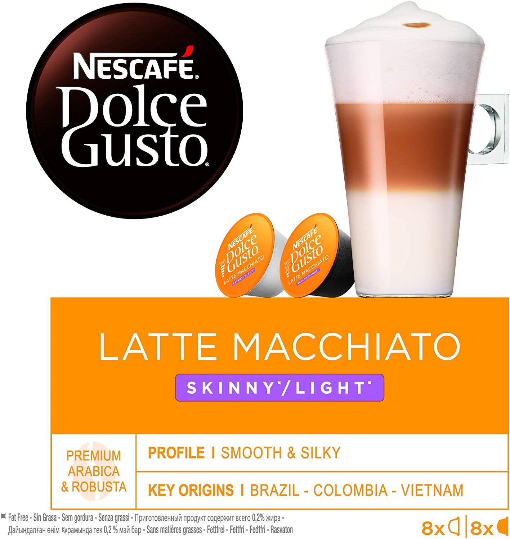 NESACAFÉ Dolce Gusto   Capsulas de Café Latte Macchiato Light ...