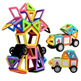 Magnetic Building Blocks, Innoo Tech Magnet Building Tiles Plus Kits, 76+1 Pieces, ABS Safety Plastic, Instruction Booklet Included, Creative and Educational Gift for Kids