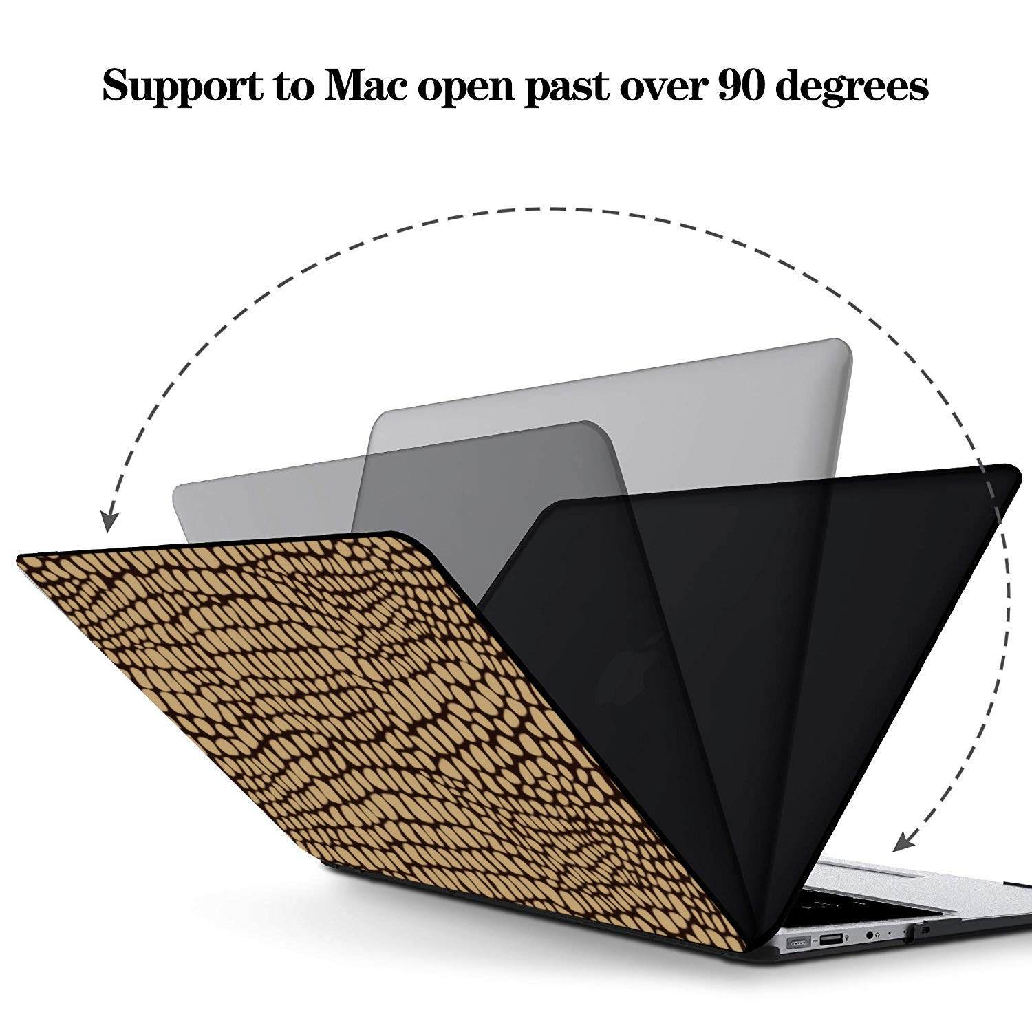 MacBook Covers Yellow Vivid Skin Natural Crocodile Plastic Hard Shell Compatible Mac Air 11 Pro 13 15 12inch MacBook Case Protection for MacBook 2016-2019 Version