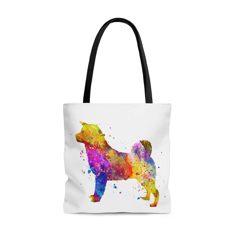 Amazon.com: Watercolor Akita Tote Bag, Books Bag, Beach Bag ...