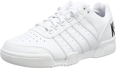 K-Swiss Gstaad Big Logo, Zapatillas Bajas para Hombre, Blanco, Blanco, Negro, 45 EU: Amazon.es: Zapatos y complementos