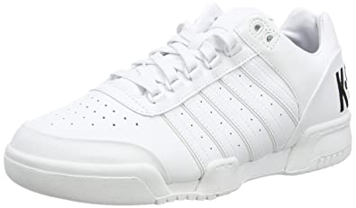5721cd1d99008 Amazon.com | K-Swiss Men's Gstaad Big Logo? White/Black Leather 8.5 ...