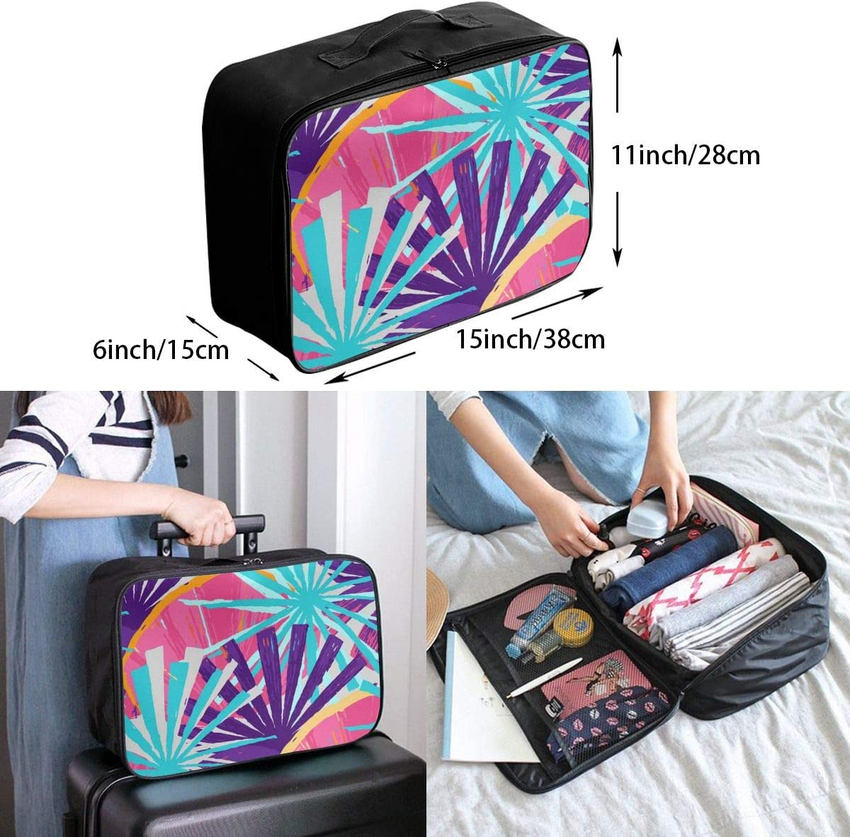 Yunshm Color Personalized Trolley Handbag Waterproof Unisex Large Capacity For Business Travel Storage