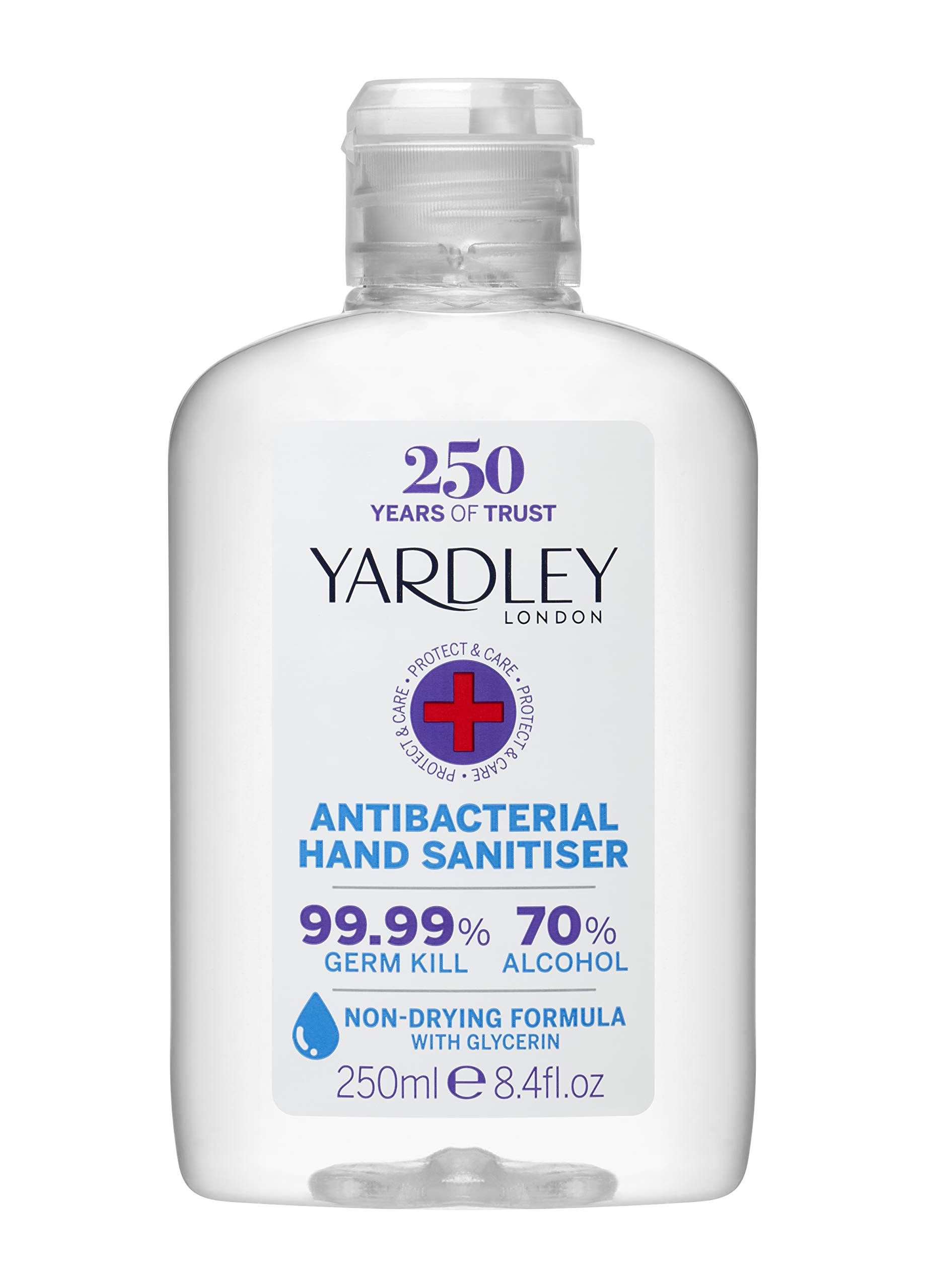 Yardley London, of Hand Sanitiser ml, Clear, Milliliters, 250 Millilitre