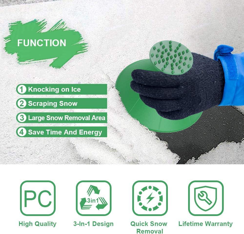 Grattoir pour d/égivrage et d/égivrage de voiture Pelle /à neige et gants en velours pour garder au chaud Outil de d/éneigement r/étractable pour Voiture Pelle /À Neige Brosse /À Neige D/égivrage en Verre