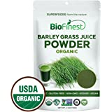 Biofinest Barley Grass Juice Powder - 100% Pure Freeze-Dried Antioxidant Superfood - USDA Organic Vegan Raw Non-GMO - Boost Energy & Immunity - For Smoothie Beverage Blend (4 oz Resealable Bag)