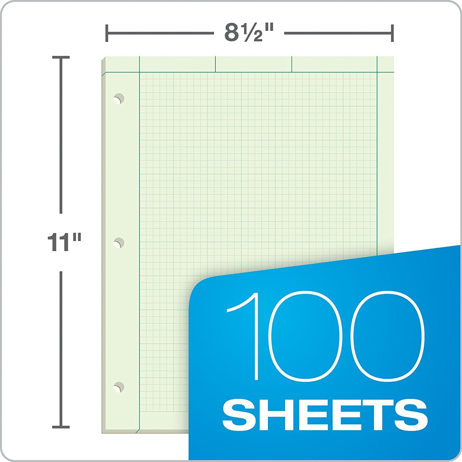 Ampad Evidence Engineering Pad, 100 Sheets, 5 Squares Per Inch, Green Tint, 11'' H x 8 1/2 W, Pack Of 5 (22-142) - Bundle Includes Universal Letter Opener by Ampad (Image #6)