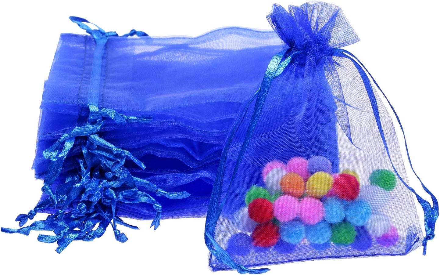 Shapenty 50pcs Organza Gift Bags Wedding Favor Candy Business Samples Display Jewelry Pouch Wrap With Drawstring For Baby Shower And Birthday Party Dark Blue Health Personal Care Amazon Com