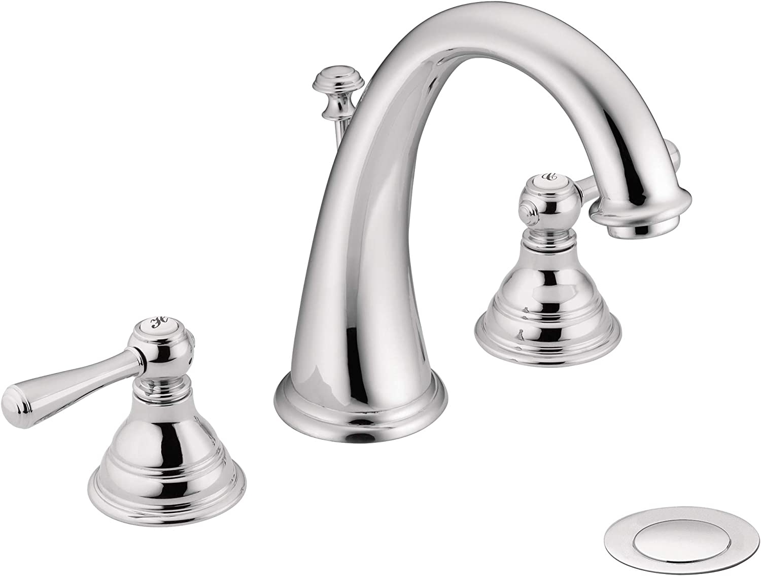 Moen T6125 Kingsley Two Handle Widespread High Arc Bathroom Faucet Valve Required Chrome Touch On Bathroom Sink Faucets Amazon Com