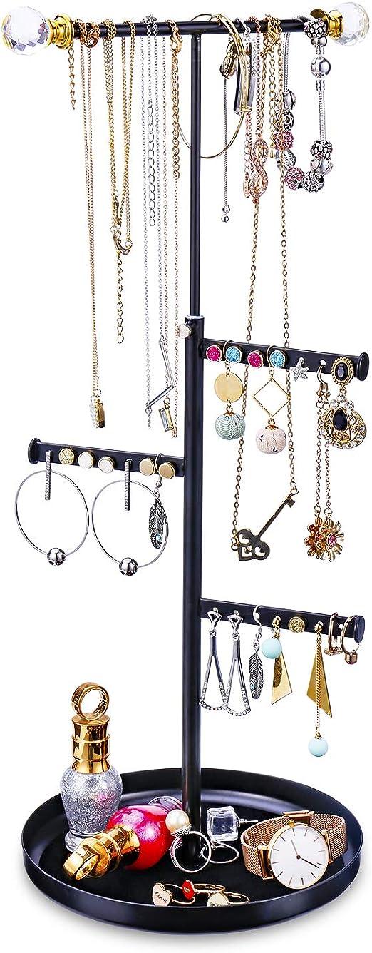 Fashion Women Jewelry Holder Necklace Pendant Display Rack Stand Organizer US