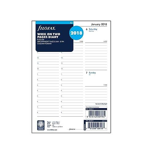 Amazon.com: Filofax – Recambio de hojas para agenda (A5 ...