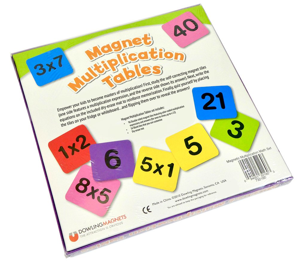 Amazon Dowling Magnets Magnet Multiplication Tables Toys Games