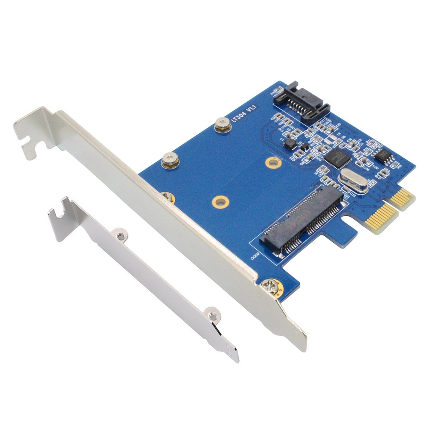 LiuTian PCIe to MSATA SSD & SATA3.0 Combo Expansion Card, PCI Express Controller Mini SATA SSD Adapter for PC Desktop with Low Bracket